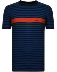 PS by Paul Smith - Multistripe T Shirt - Lyst
