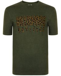 BBCICECREAM - Leopard Logo T Shirt - Lyst