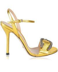 Gucci - Dionysus Metallic Heels - Lyst