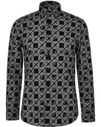 Versace - Checked Print T Shirt - Lyst