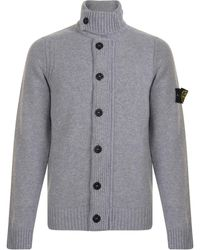 Stone Island - Button Knitted Cardigan - Lyst
