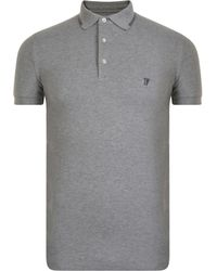 French Connection - Logo Tipping Polo Shirt - Lyst