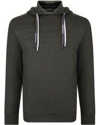 Emporio Armani - Stitch Logo Hooded Sweatshirt - Lyst