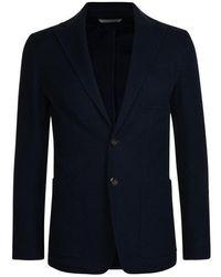 Canali Jersey Blazer - Blue