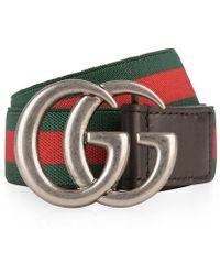 Gucci - Children Unisex Web Belt - Lyst