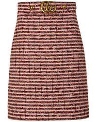 b429ed3c88 Bicolor Cotton Blend Tweed Mini Skirt. £890. SSENSE. Gucci - Web Tweed Skirt  - Lyst