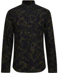 HUGO - Camouflage Shirt - Lyst