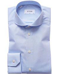 Eton of Sweden - Slim Fit Check Shirt - Lyst