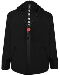Burberry - Bungee Cord Detail Hooded Parka - Lyst