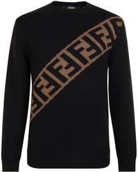 Fendi - Logo Embellished Sweatshirt - Lyst
