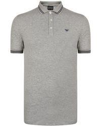 Emporio Armani - Tipped Polo Shirt - Lyst