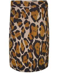 Vivienne Westwood Anglomania Leopard Printed Mini Pencil Skirt - Multicolour