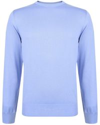 Canali - Cotton Knitted Jumper - Lyst