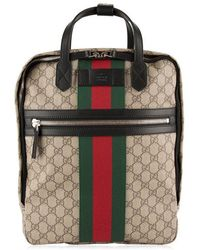 d557cf2380aa62 Gucci Tiger Gg Supreme Backpack in Natural for Men - Lyst