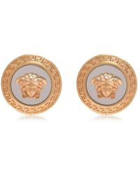 Versace - Tribute Medusa Stud Earrings - Lyst