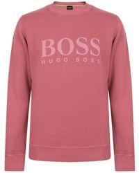 BOSS by Hugo Boss - Fit Woven Sweatshirt - Lyst