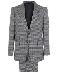 Tom Ford - Hounds Tooth Wool Two Piece Suit - Lyst