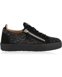 Giuseppe Zanotti - Embellished May Zip Low Top Trainers - Lyst
