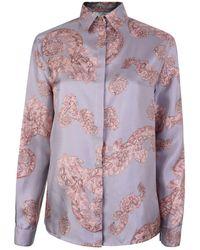 Versace - Baroque Long Sleeved Shirtprint Shirt - Lyst