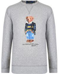 130a15c3e6fe Polo Ralph Lauren Knit Fleece Sweatshirt in Green for Men - Lyst