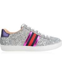 e1c41caca Lyst - Gucci New Ace Glitter Sneakers