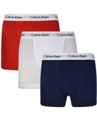 Calvin Klein - Pack Cotton Stretch Boxer Trunks - Lyst