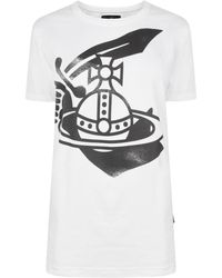 Vivienne Westwood Anglomania - Classic Logo T Shirt - Lyst