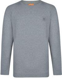BOSS by Hugo Boss - French Terry Logo Patch Sweatshirt - Lyst