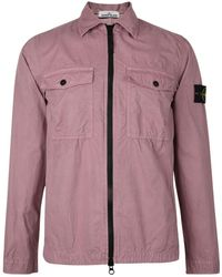 Stone Island - Brush Canvas Overshirt - Lyst