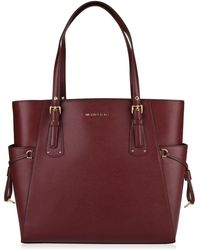 MICHAEL Michael Kors - Grained Leather Voyager Tote Bag - Lyst
