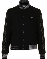 Off-White c/o Virgil Abloh - Diagonal Varsity Jacket - Lyst