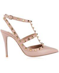 Valentino - Rockstud Ankle Strap Heels - Lyst