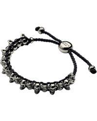 Links of London - Silver Skull Friendship Bracelet - Lyst