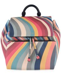 Paul Smith - Small Striped Backpack - Lyst
