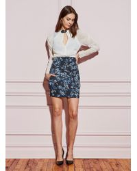 Fleur du Mal - Corset Waist Mini Skirt - Lyst