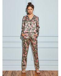 Fleur du Mal - Printed Pajama Pant - Lyst