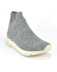 Vince - Knit Fabric Hi Top Trainer - Lyst