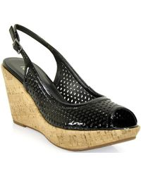 Footnotes - Punched Wedge Slingback - Lyst