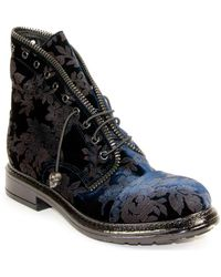 275 Central - Embroidered Velvet Bootie - Lyst