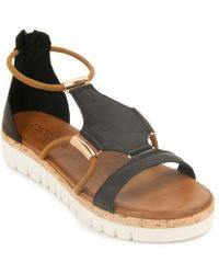 275 Central - Leather Wedge Sandal - Lyst
