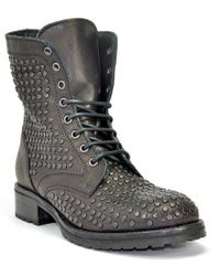 275 Central - Studded Leather Lug Sole Ankle Boot - Lyst