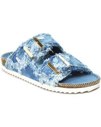 275 Central - Denim Double Banded Slide - Lyst