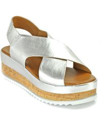 275 Central - Metallic Criss Cross Wedge - Lyst