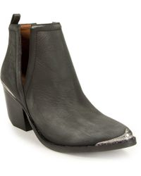 Jeffrey Campbell - Distressed Bootie - Lyst