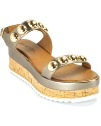 275 Central - Metallic Cork Wedge - Lyst