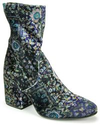 275 Central - Blue Velvet Ankle Bootie - Lyst