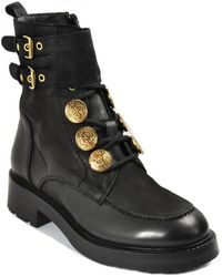 275 Central - Leather Lug Bootie - Lyst