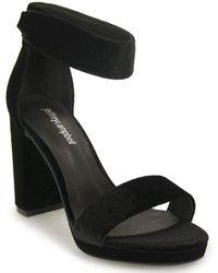Jeffrey Campbell - Velvet Platform Sandal - Lyst