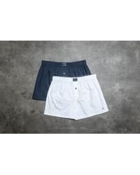 Footshop - Tommy Hilfiger 2 Pack Woven Boxer White/ Navy Blazer - Lyst
