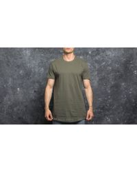 Footshop - Urban Classics Shaped Long Tee Olive - Lyst